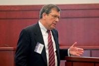 An attorney exposing an argument