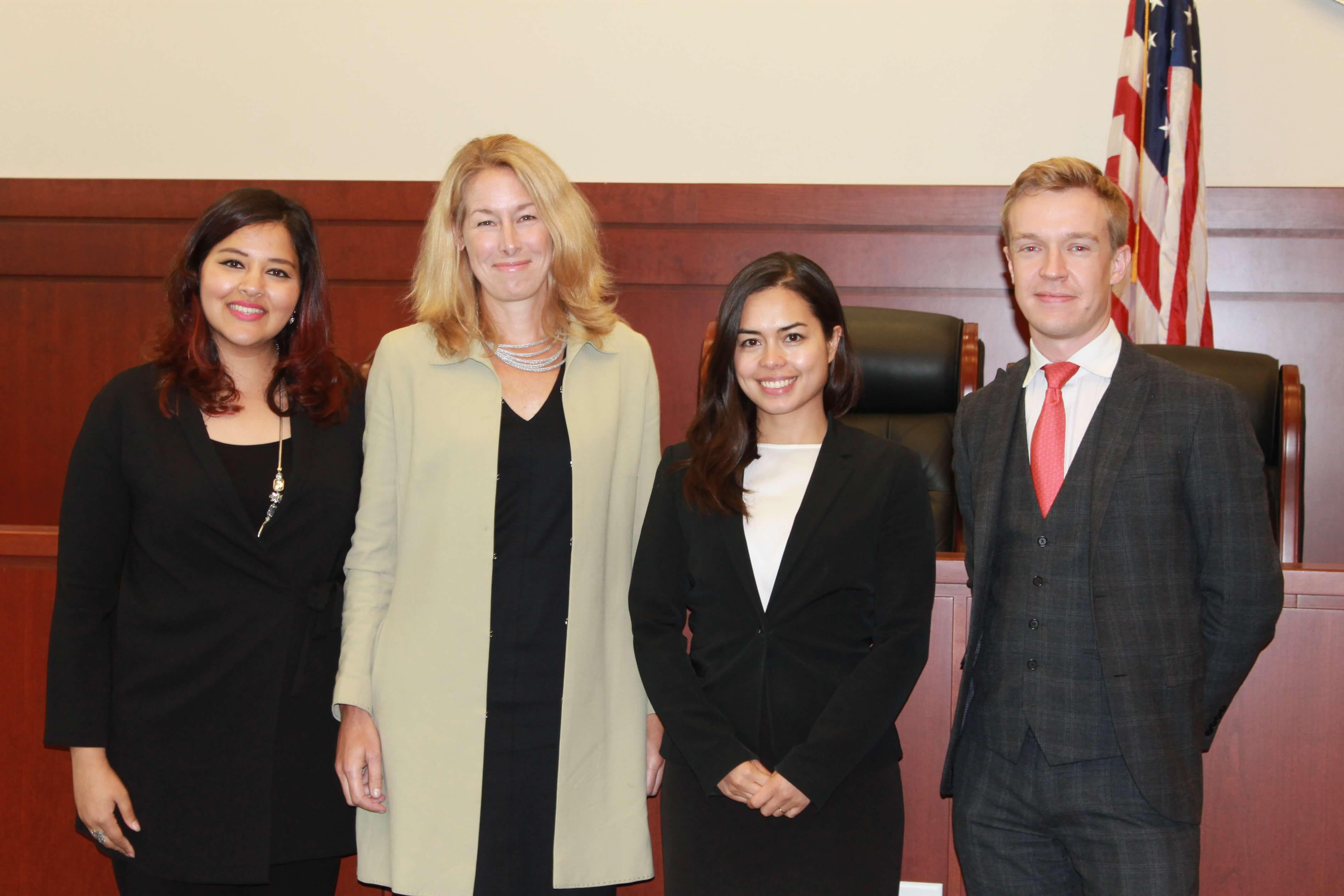 4 advocates standing