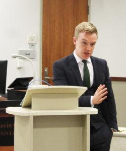 A presentation by an attorney