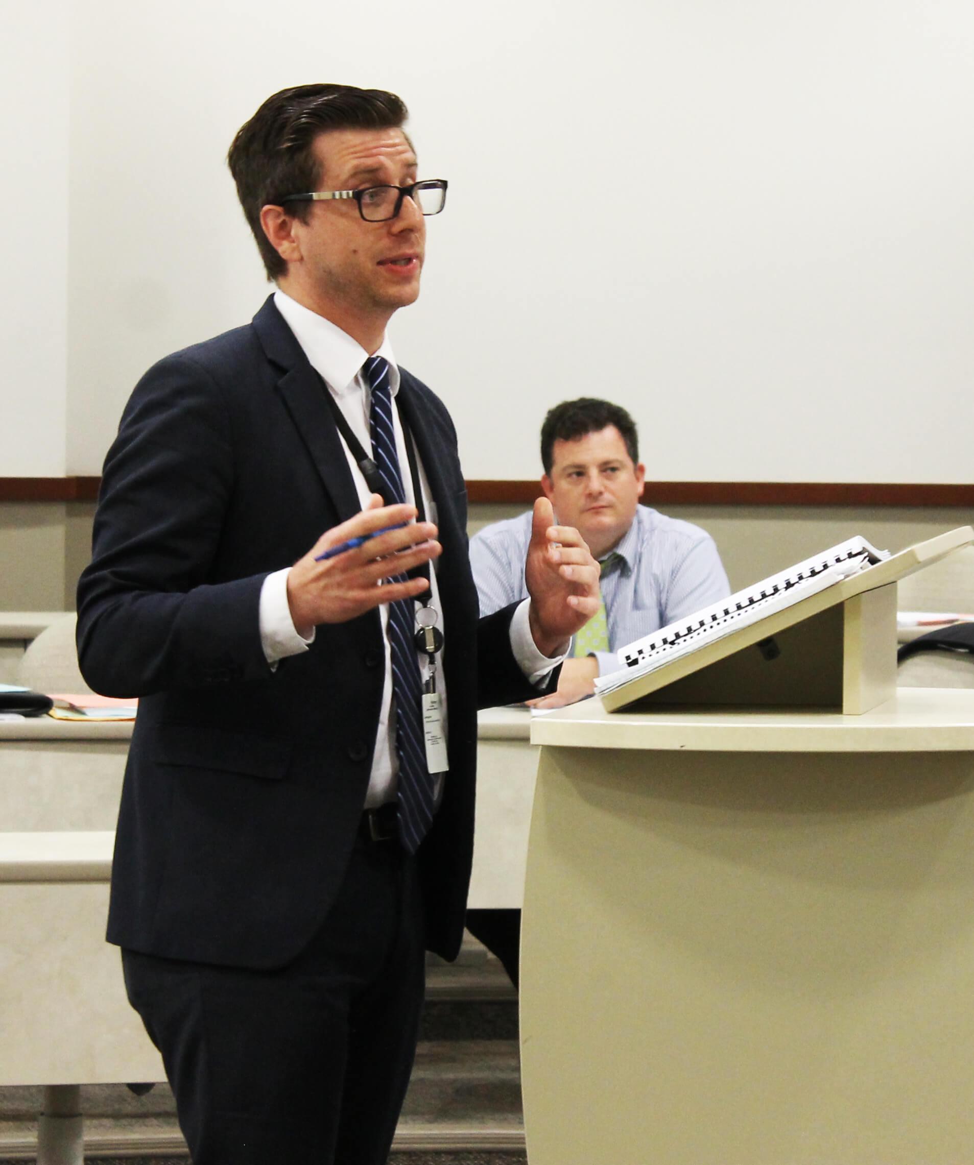 Lawyer teaching a class