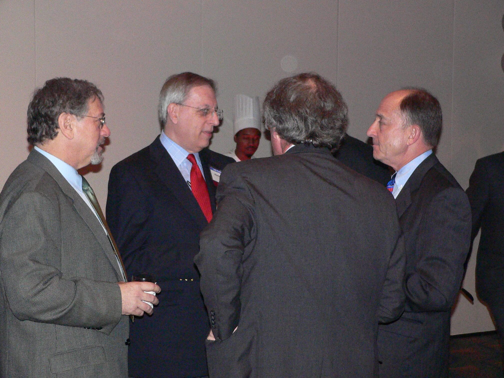 4 lawyers at CLS 30th Anniversary Reception 2007 talking