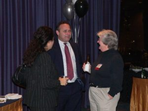 Lawyers talking at the CLS 30th Anniversary Reception 2007