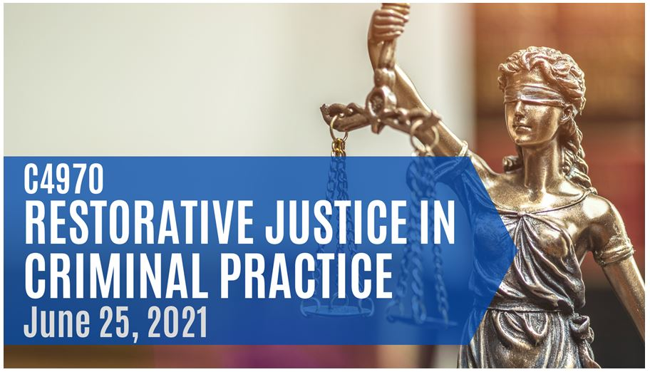 Restorative Justice in Criminal Practice