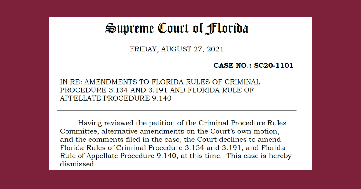 Supreme Court Decision in SC20-1101